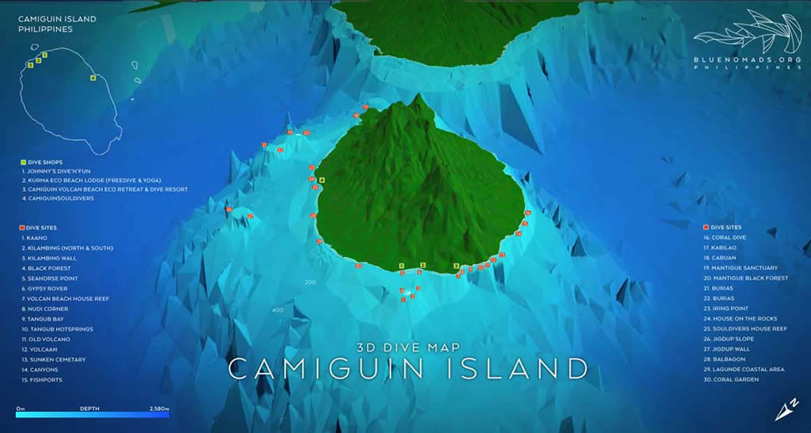 Camiguin 3D Map